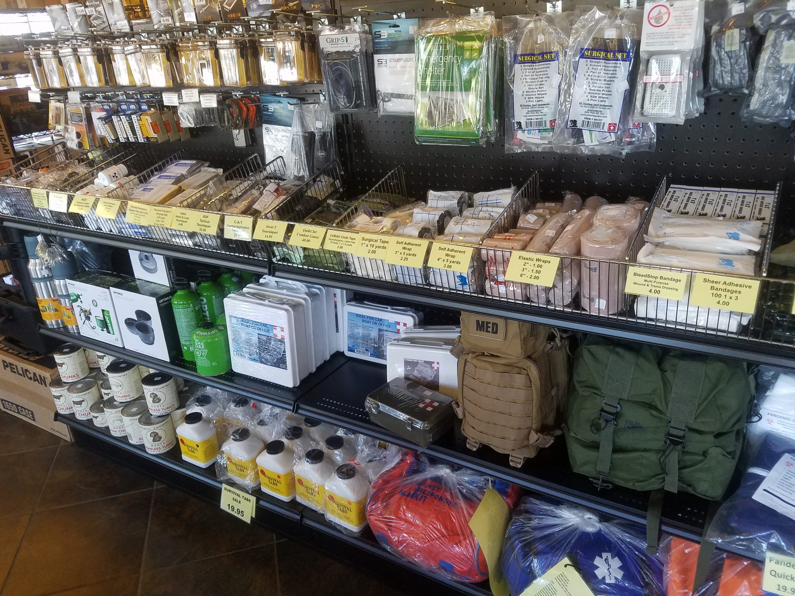 Flashlight Outlet stocks a variety of medical supplies and emergency supplies for your outdoor adventures and for professionals